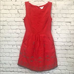 Esley coral and grey tank dress with pockets